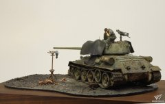 1/35 T-34/85坦克场景:Crying Soldier