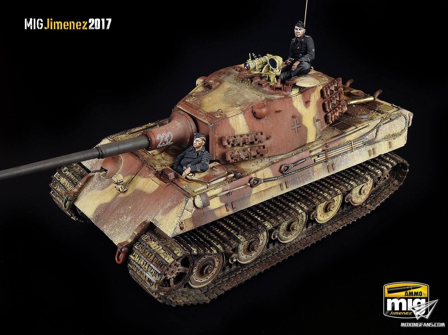 虎王重型坦克 涂装_1/35 虎王重型坦克后期型1945(三花)_静态模型爱好者--致力于 ...